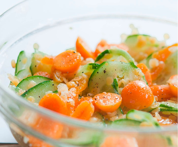 Physalis and Cucumber Salad recipe