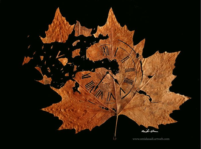 Fallen leaves art