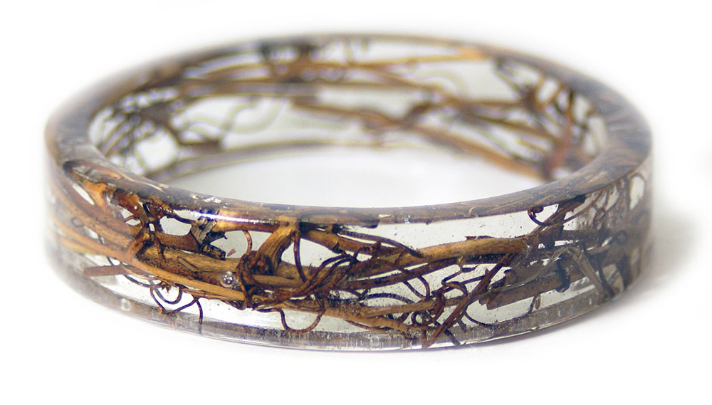 Bracelets Embedded with Plants