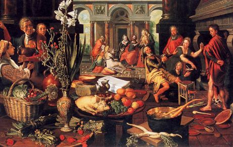 Pieter Aertsen Christ in the Home of Mary and Martha 1553