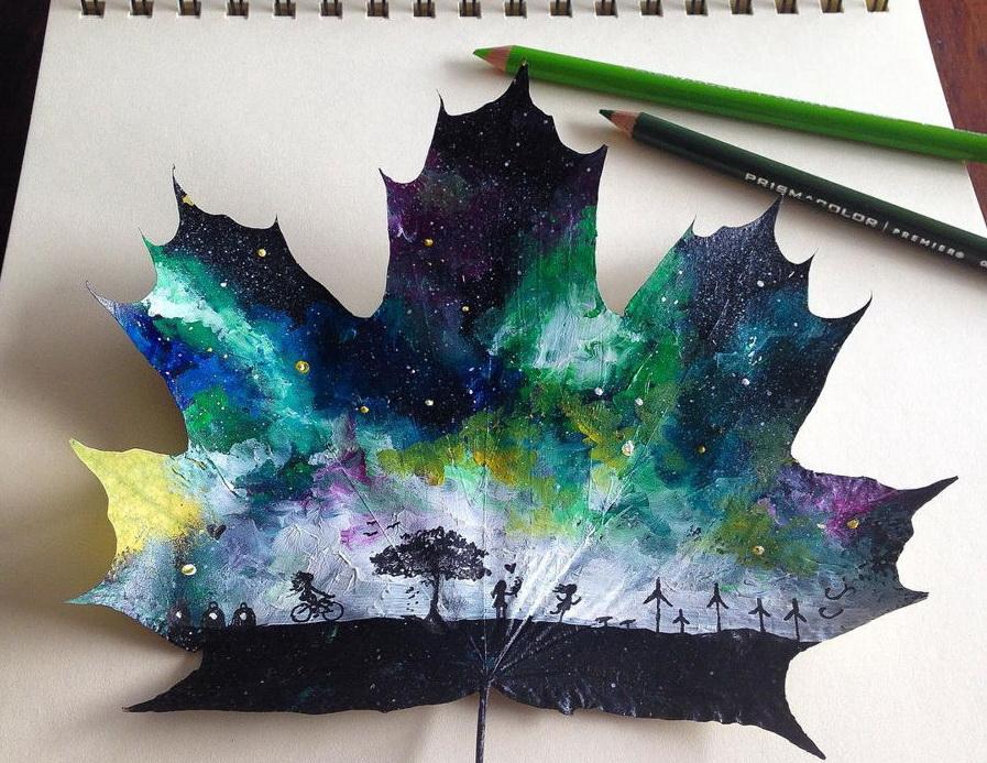 Fallen Autumn Leaves - Beautiful Paintings