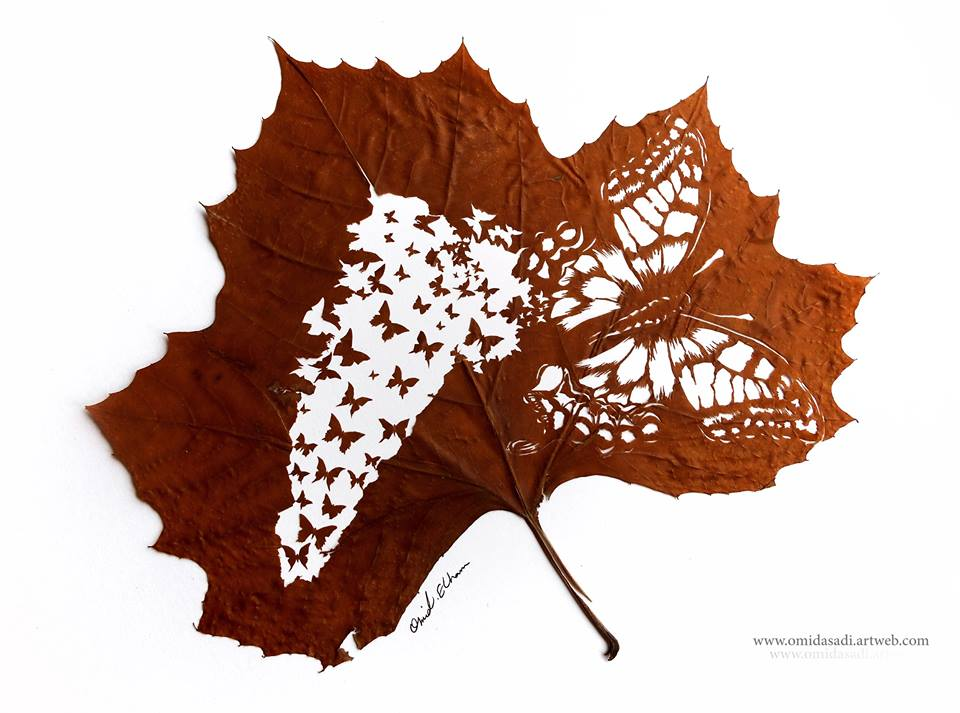 Stunning Artwork Made Of Fallen Leaves